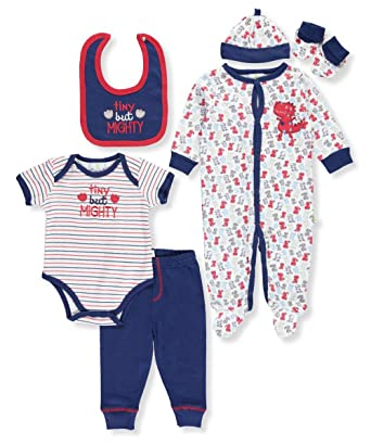 Amazon Com Duck Duck Goose Baby Boys 7 Piece Layette Set Clothing