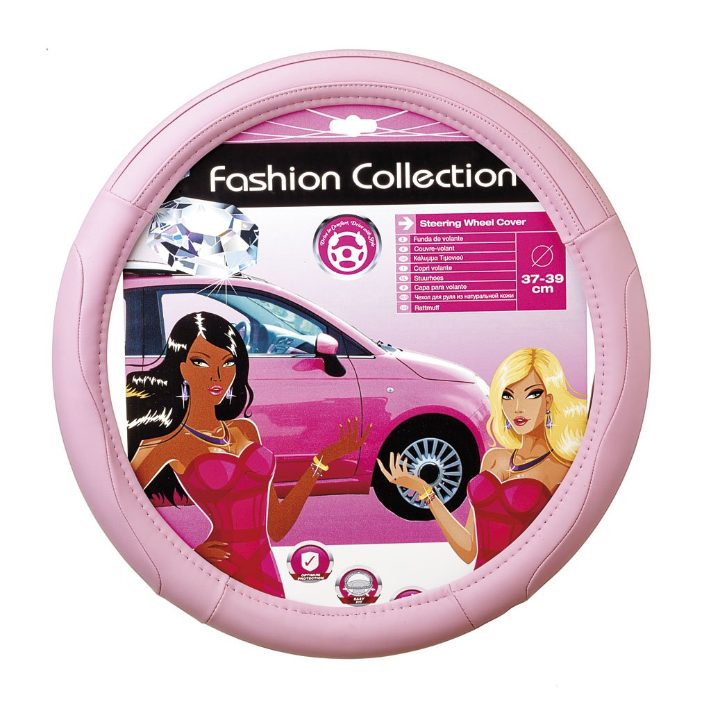 Pink cover fits 14.5 - 15.5 steering-wheels