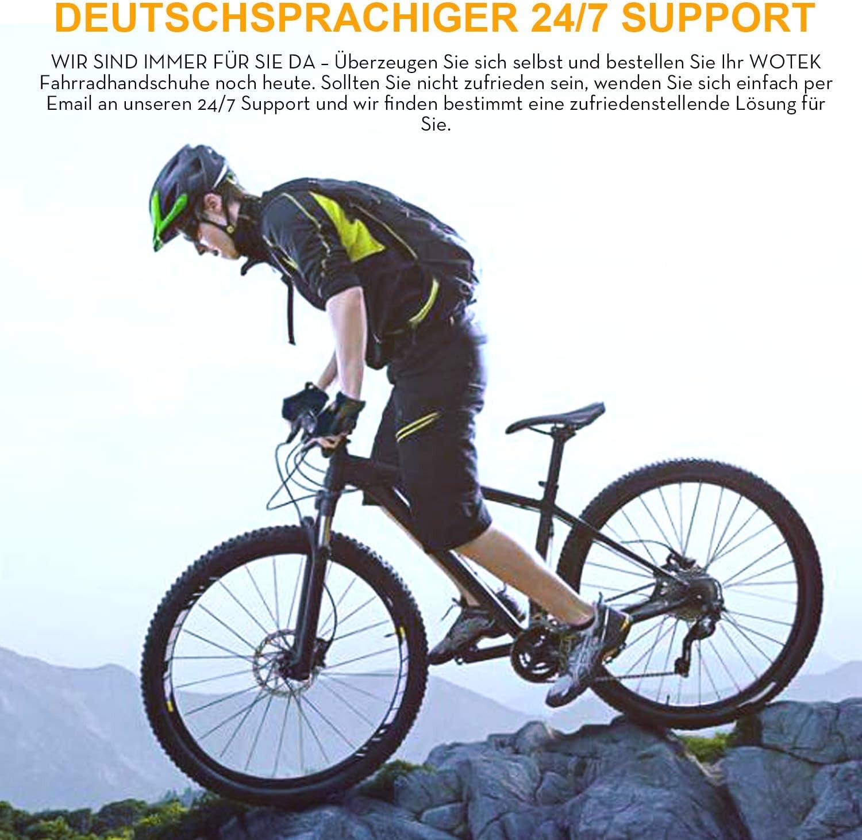 Course randonn/ée WOTEK Gants de Cyclisme pour Homme et Femme Demi-Doigt /équitation Gants dentra/înement pour VTT Alpinisme Sport Gants de Fitness pour Homme et Femme