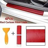 Autumn Water 4pcs Universal Red 3D Carbon Fiber