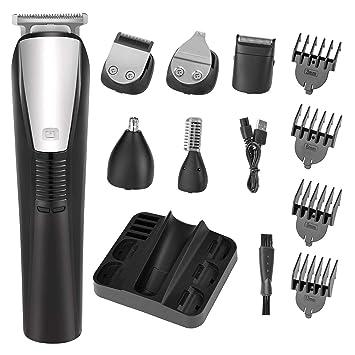 Amazon.com: Cortapelos para barba para hombre, cortador de ...