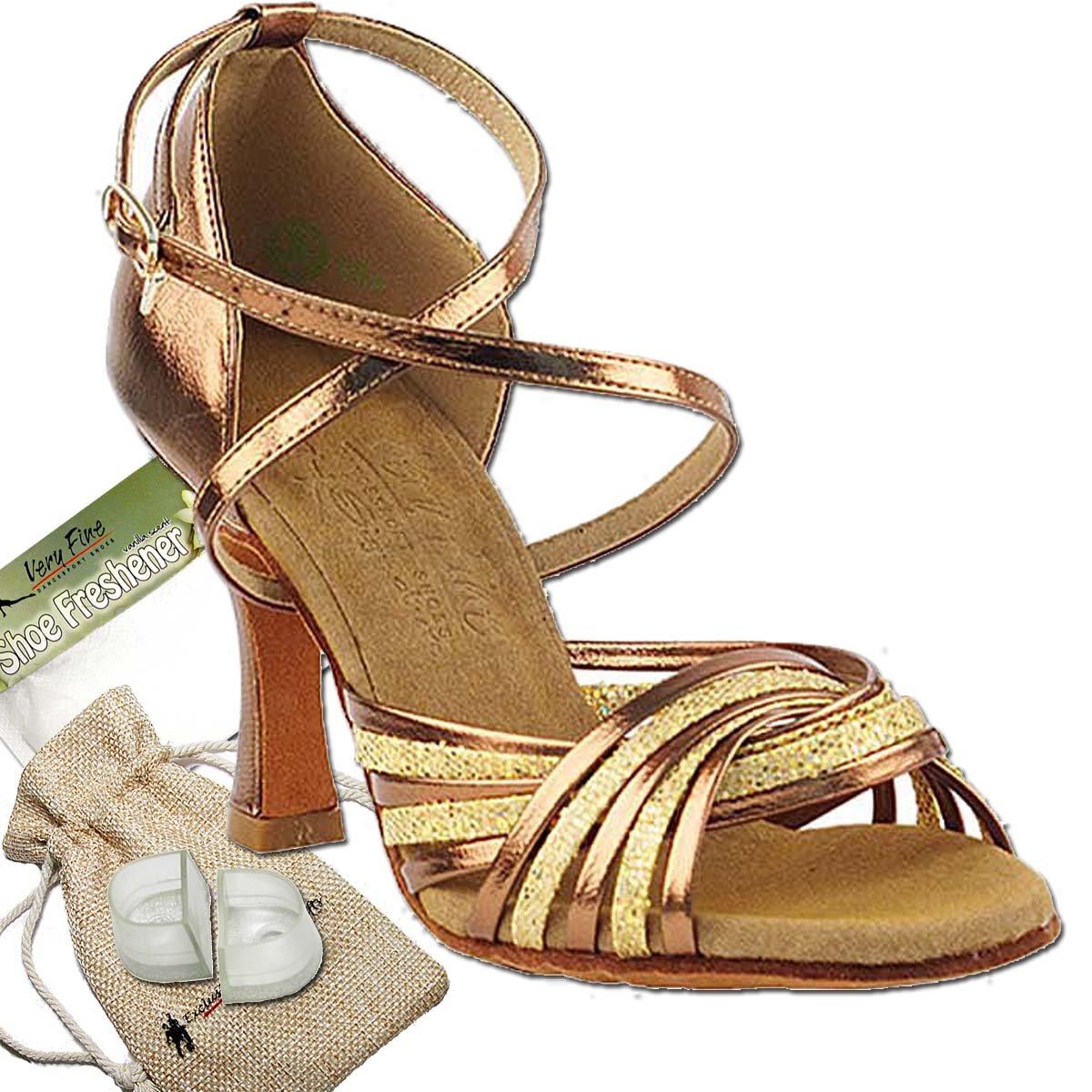 [Very Fine Dance Shoes] レディース B074WHVYLF Gold Scale & Dark Tan Gold 9.5 B(M) US