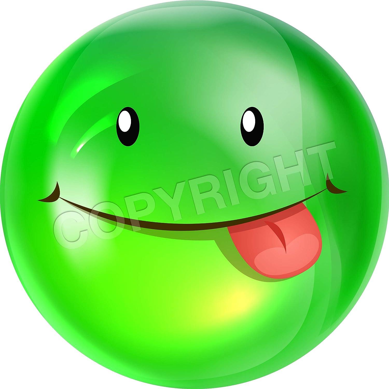 Semáforo marcado cara sonriente Emoji Pegatinas de ...