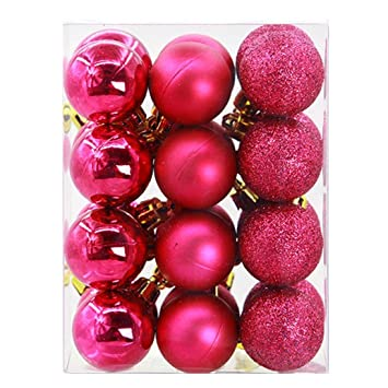 hot sale clearancetodaies 24pcs 3cm christmas balls baubles party xmas tree decorations hanging