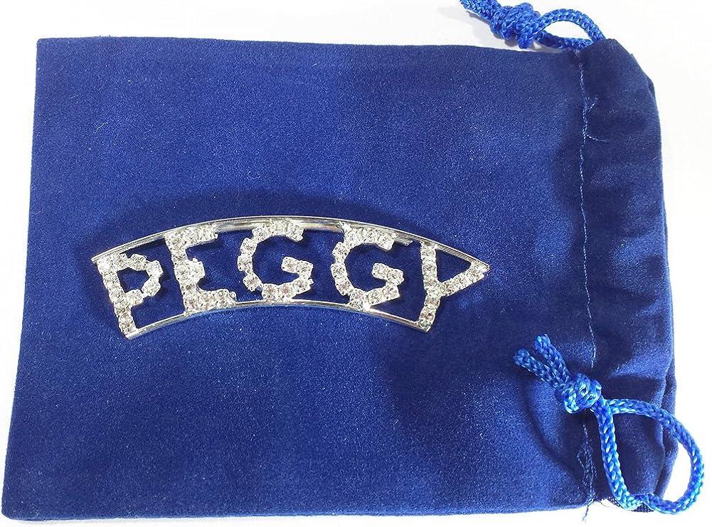 Detti Originals Personalized Rhinestone Peggy Name pin