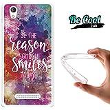Becool® Fun - Funda Gel Flexible para ZTE Blade A452 .Carcasa TPU fabricada con la mejor Silicona , protege y se adapta a la perfección a tu Smartphone y con nuestro diseño Razón para sonreír