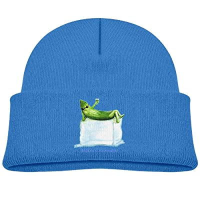 Raining Sunlight Kids Funny Cool As A Cucumber Lie On An Ice Casual Flexible Winter Knit Hats/Ski Cap/Beanie/Skully Hat Cap