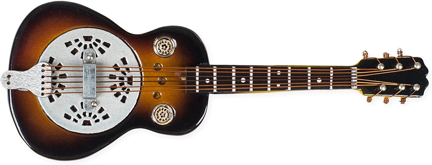 "Miniature Resonator Guitar Magnet 4"" by Broadway Gifts"