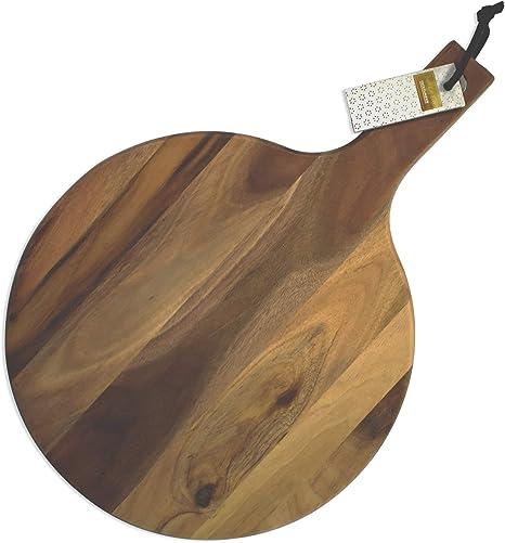 Compra Fackelmann 681653 Tabla de Cortar Redonda Acacia, Madera, marrón, 40 x 28 x 1, 8 cm en Amazon.es