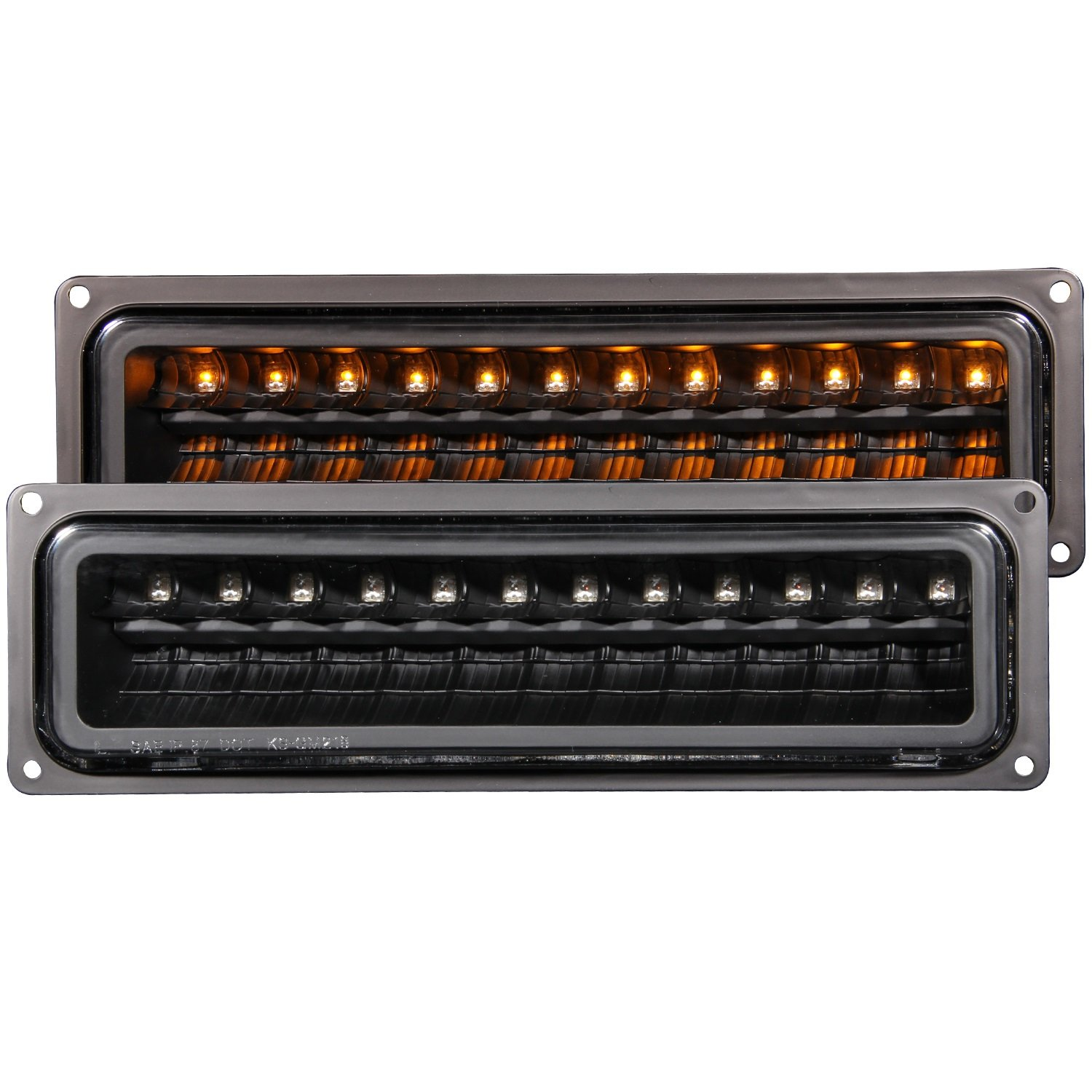 Anzo USA 511050 GMC Black LED Parking Light Assembly - (Sold in Pairs)