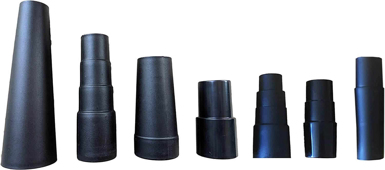 Mountain Trades Universal Vacuum Hose Adapter Kit and Cone Reducers 7 Attachments Fits 7/8 in to 1 3/4 in Includes 1 Rubber Reducer