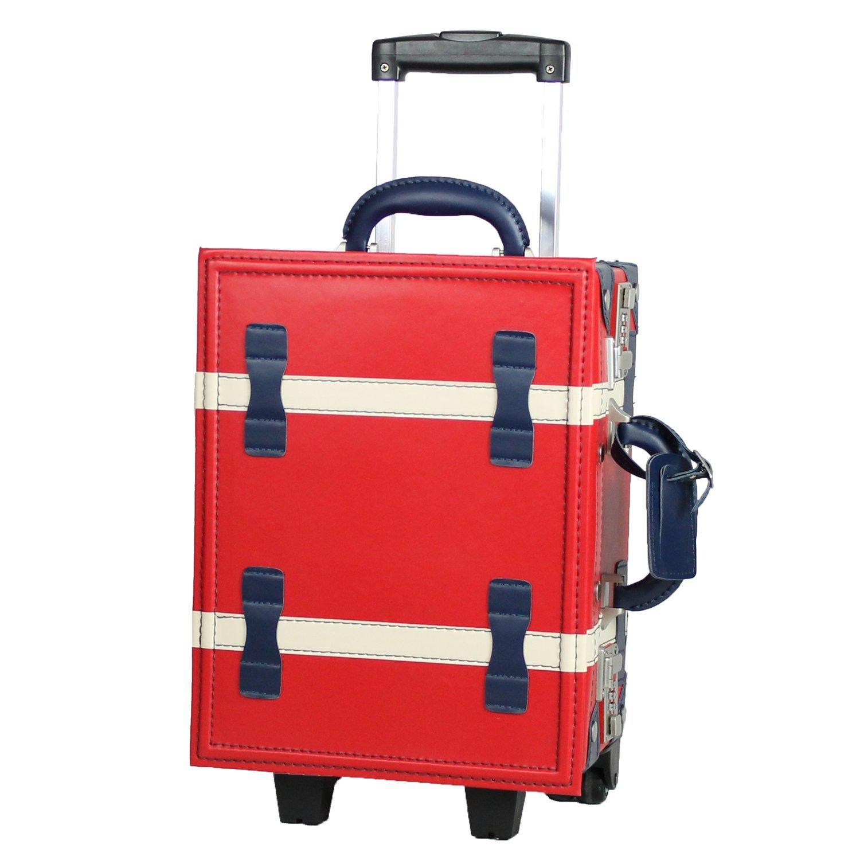 MOIERG(モアエルグ)子供用 キッズキャリー バッグ キャリーケース 機内持ち込み B01EWQA4V2 M|マルチカラーレッド マルチカラーレッド M