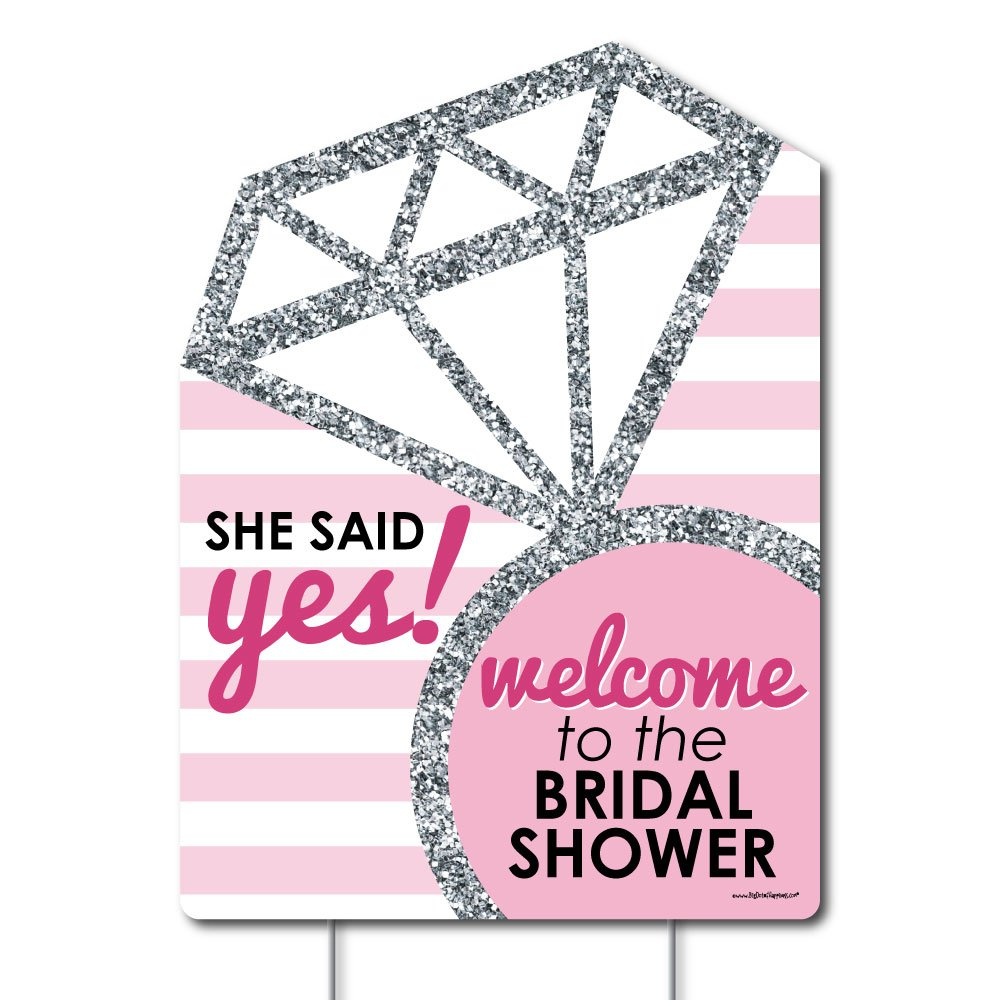 Amazon.com: Big Dot of Happiness Bride-To-Be - Bridal Shower Party ...