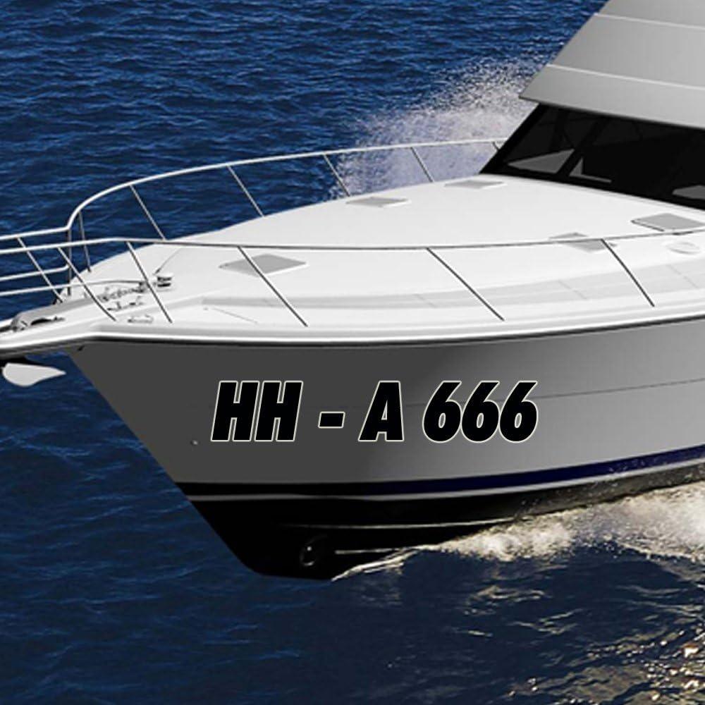 2 Stk. Barco Nombre AMT liches Matrícula para Austria en 150 mm Barco barco Número Manguera Boot hasta 12 caracteres para AT: Amazon.es: Coche y moto