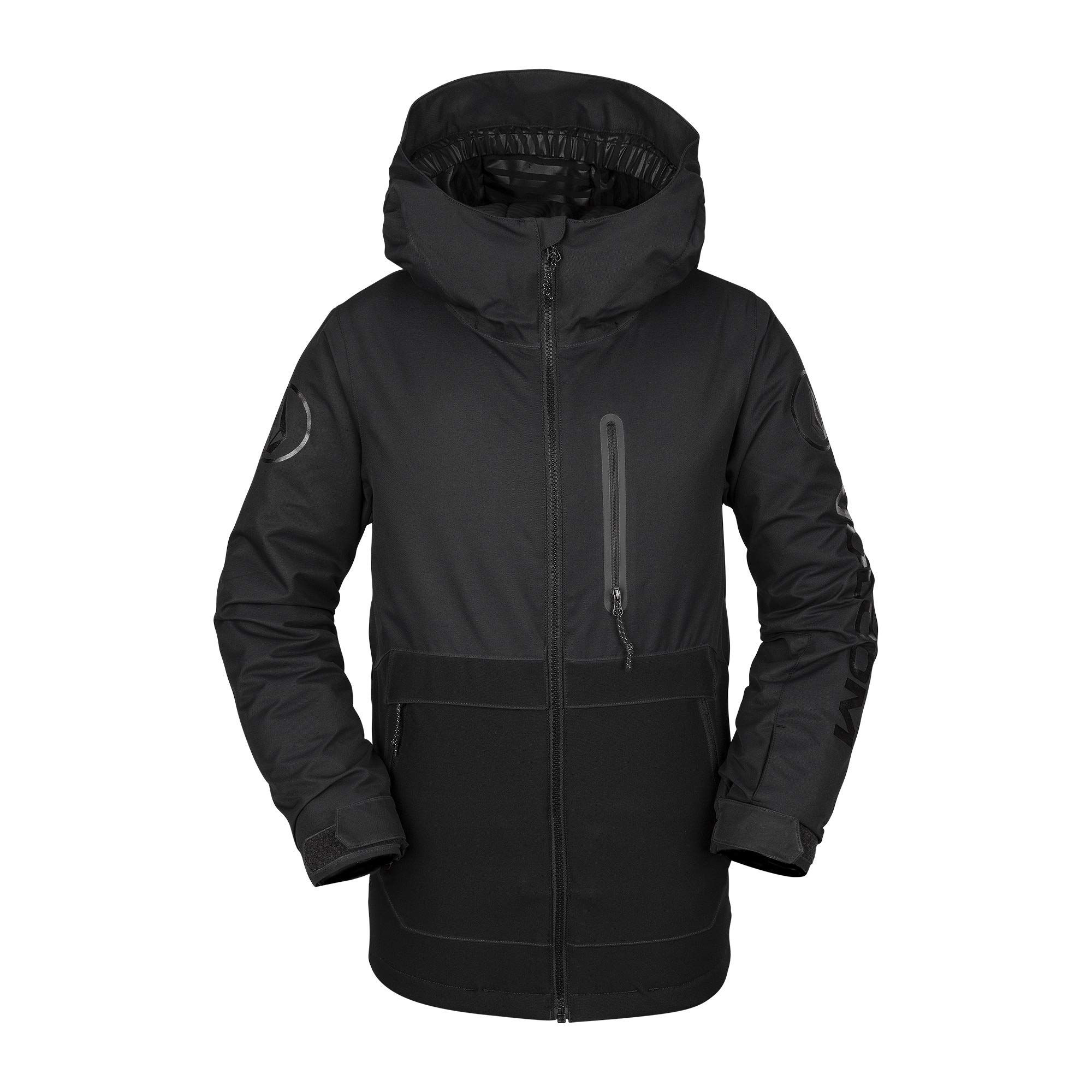 Volcom Boys' Big Holbeck Insulated 2 Layer Shell Snow Jacket, Black, Extra Large by Volcom