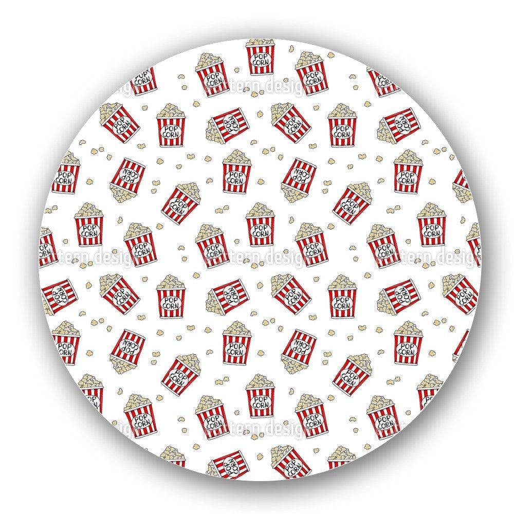 Uneekee Tasty Popcorn Lazy Susan: Large, Dark Wooden Turntable Kitchen Storage