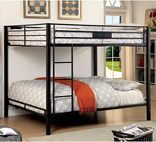 Furniture of America Rivell Metal Queen Over Queen Bunk Bed