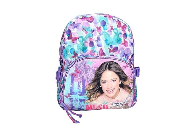 Mochila niña DISNEY VIOLETTA bolsa de ocio escolar viola VZ341: Amazon.es: Ropa y accesorios