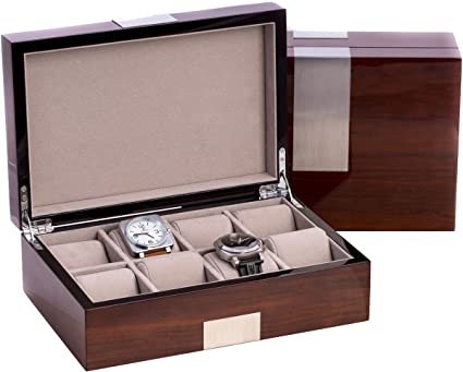 1037d9f6c7e Image Unavailable. Image not available for. Color  Eight Watch Case Box in  High Lacquer Walnut Wood ...