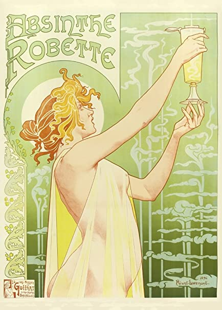 Absinthe Robette Old French advertising Poster reproduction