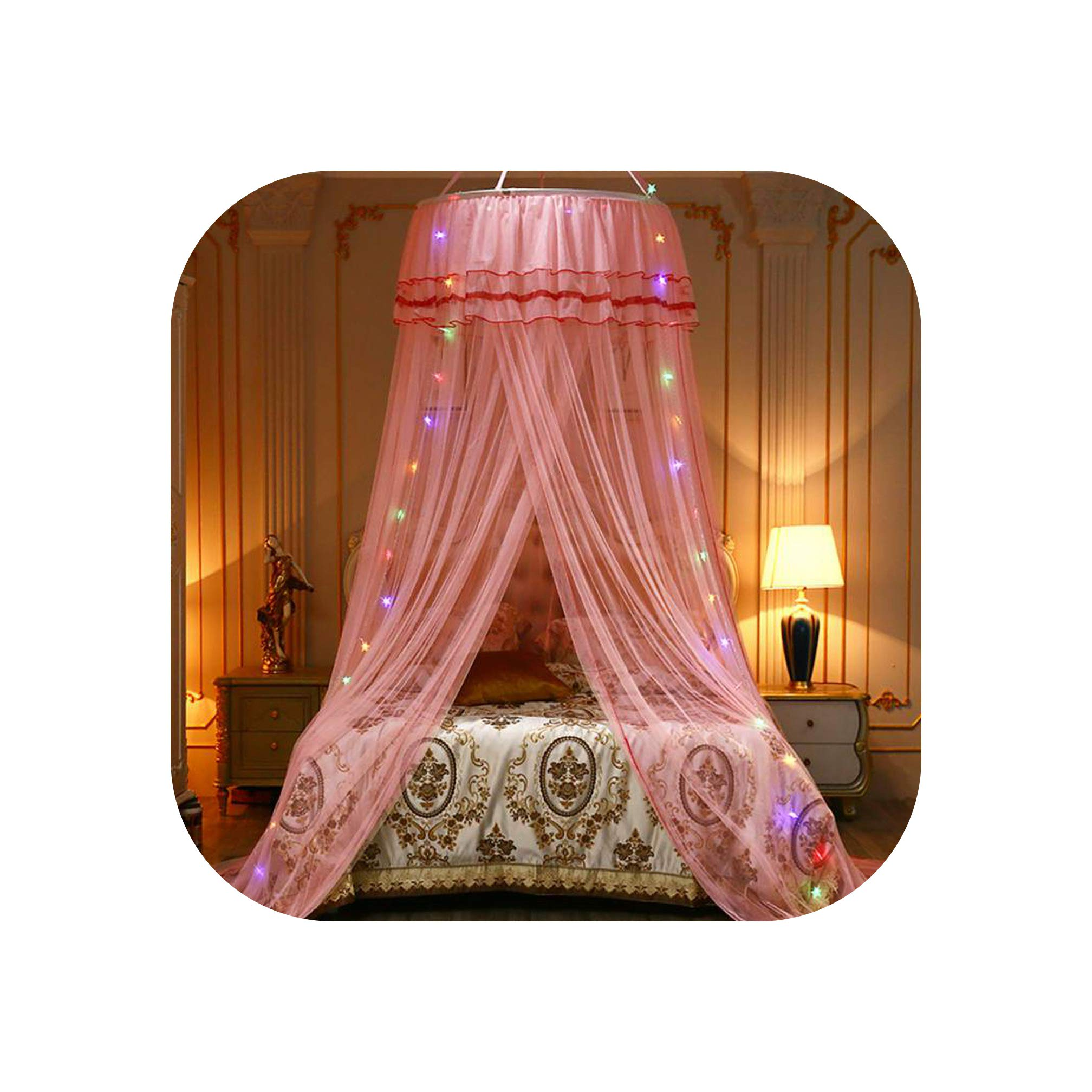 Elegant Canopy Mosquito Net for Double Bed Mosquito Repellent Tent Insect Reject Canopy Bed Curtain Bed Tent,1