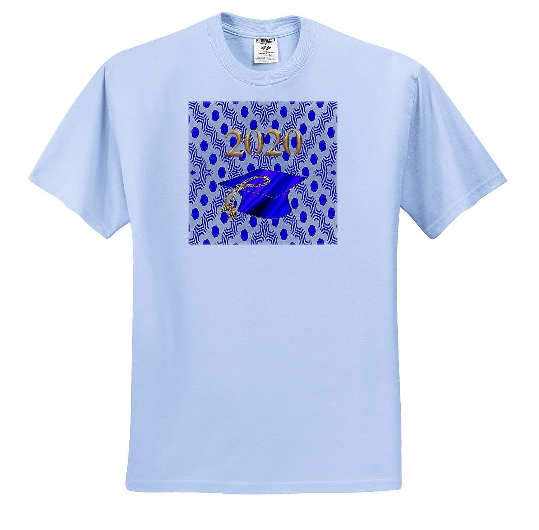 Gold T-Shirts Image of Graduation Cap Tassel Hexagon Design 3dRose Beverly Turner Graduation Design Purple 2020