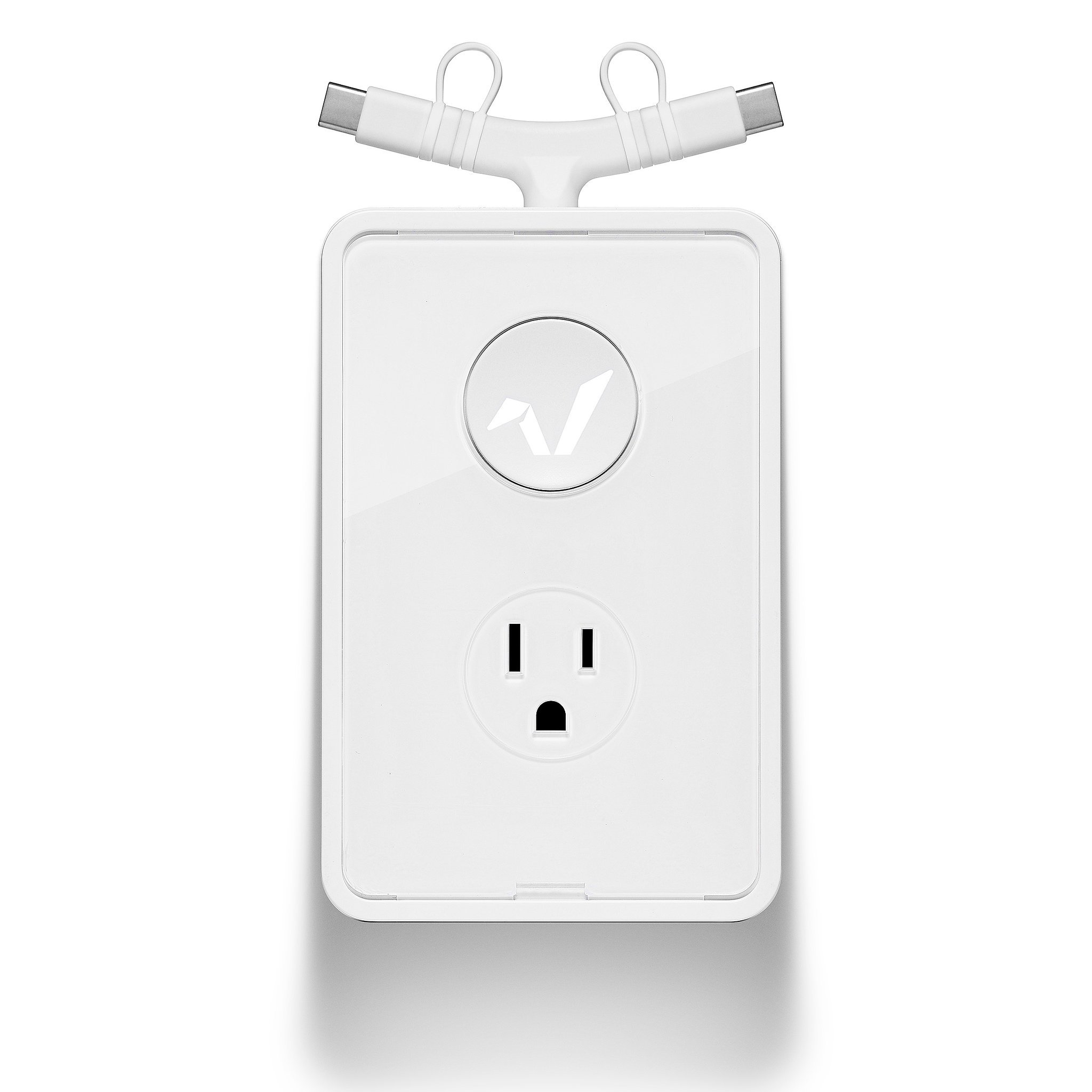 RABBIT CHARGER Duo with 28'' Retractable Cable, USB-C to Micro USB Swappable Charging Tips (Apple Tips Sold Separately) by Rabbit Charger