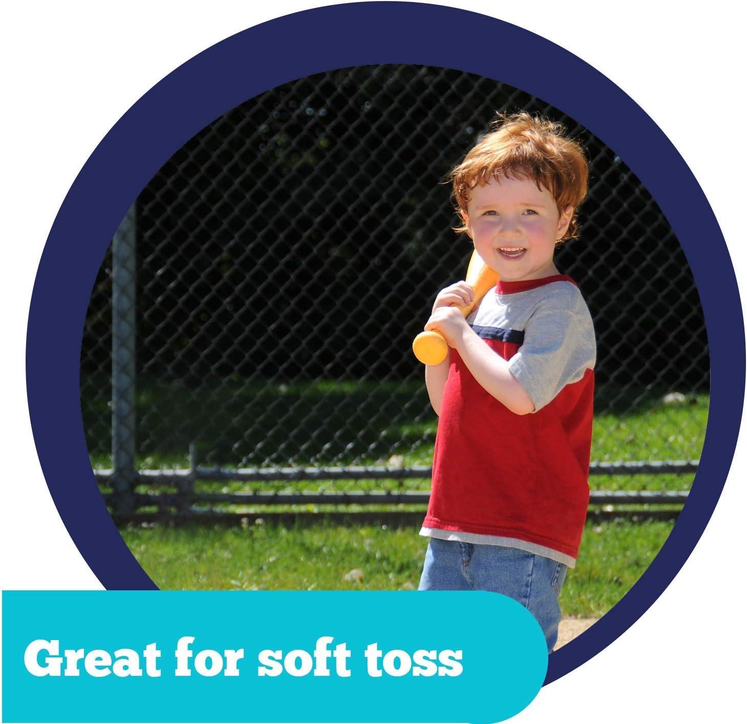 1 Great for Soft Toss Kids Baseball Practice Plastic Baseballs Oversized Toddler Baseball Bat /& Tball Practice or Developing Skills Toddler Baseball Set for Beginners: Plastic 3