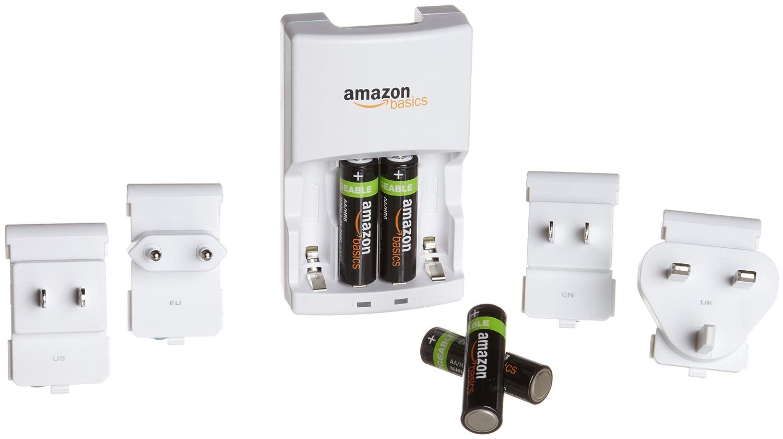 AmazonBasics - Paquete de 4 pilas recargables AA NiMH y ...