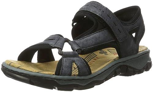 53206fb9c29570 Rieker Damen 68879 Geschlossene Sandalen  Rieker  Amazon.de  Schuhe ...