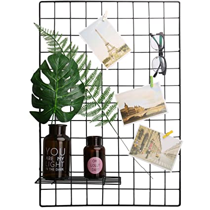 Amazon.com: Kleanner Metal Wire Mesh Grid Panel,Mesh Memo Board Wall ...