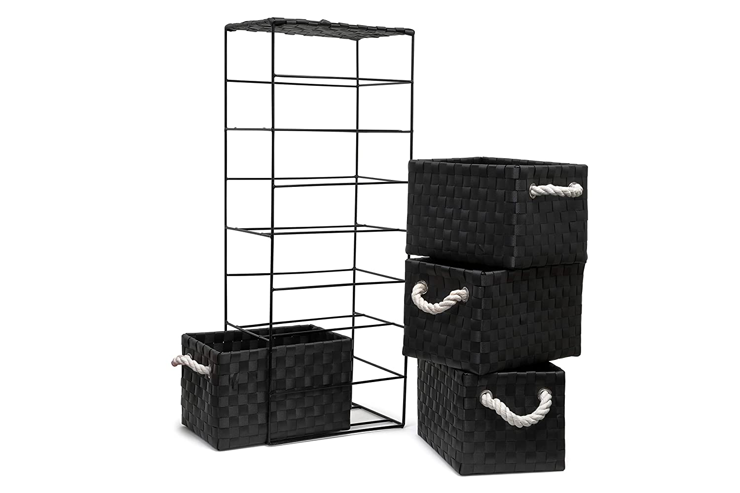 2-Drawer - 18x25x33cm 2-Drawer - 18x25x33cm Arpan Black 2-Drawer Storage Unit Ideal For Home//Office//bedrooms