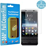 Blackberry KEYone Screen Protector , Wtbone Full Coverage HD Clear TPU Screen Protector, Explosion Protection & Anti-Bubble Smooth Protective Film Skin Guard for BlackBerry KEYone[2 Pack]