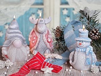 Kerzen Figuren.Winter Figuren Kerzen Figur Weihnachtskerze Dekokerzen