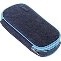 Prettyia Students Pencil Case Pen Bags Large Capacity for School Stationery Supplies - Dark Blue