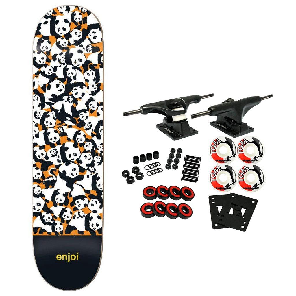 Enjoi Skateboard Complete Panda Pile Up Orange 8.0
