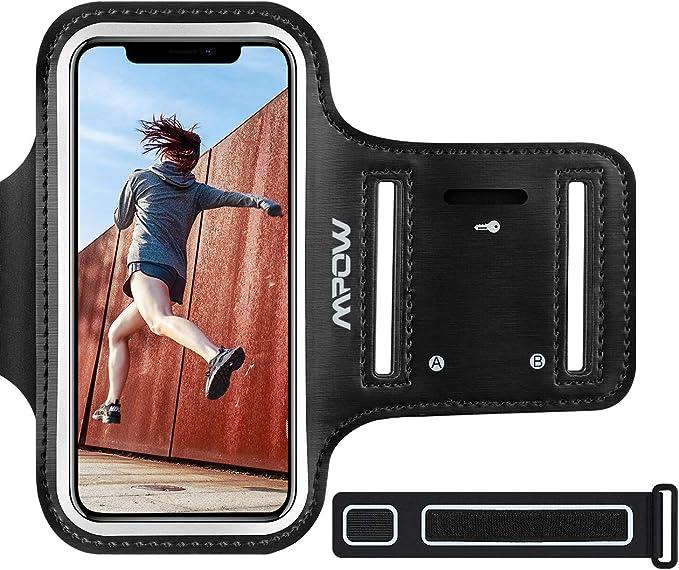 Mpow Brazalete Deportivo para Corre.Soporte para Llaves, cables y tarjetas,Antideslizante Contra Sudor,Brazalete Movil para iPhone 11/XR/XS/ X/ 8/7/6,LG hasta 6.1 pulgas: Amazon.es: Electrónica