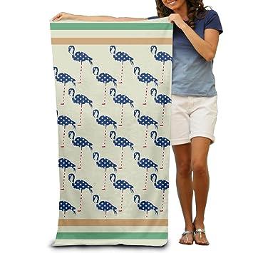 Patriótica bandera de American Flamingo patrón de toallas de ducha de toallas de playa toallas de piscina de adultos suave absorbente: Amazon.es: Hogar