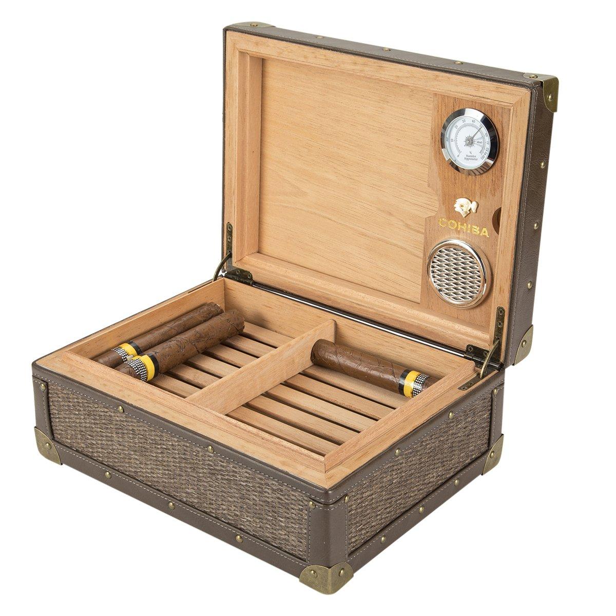 XIFEI leather edge cigar humidors Cedar wood cigar humidors