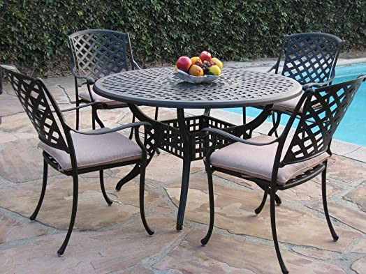CBM Patio Kawaii Collection Patio Furniture 5 Piece Dining Set MLV120T-4A
