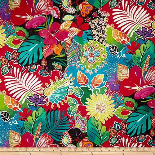 Stof Fabrics of France Stof France Guadalupe Basketweave Multicolor Fabric by The Yard,