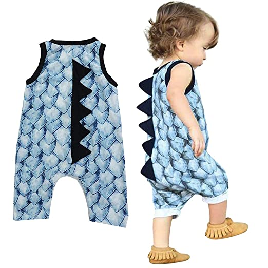 67991df47494 FDelinK Clearance Sale Newborn Infant Baby Girl Boy Outfits Dinosaur Print  Romper Summer Sleeveless Jumpsuit Clothes