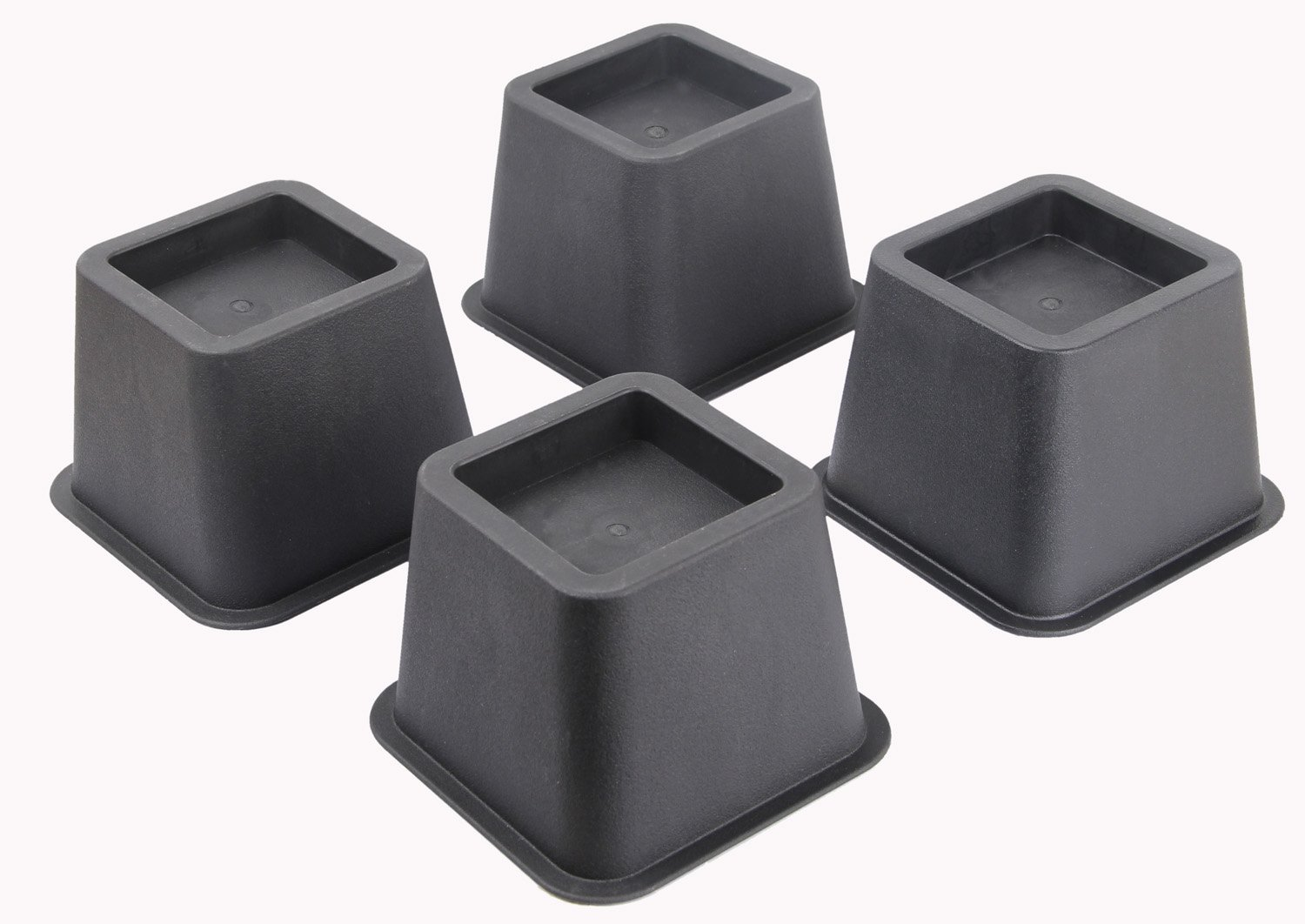 EASYGOING 4-pack 3 Inch Height Bed Risers, Furniture Riser Bed Riser and Bed Lifts,Helps you storage under the bed