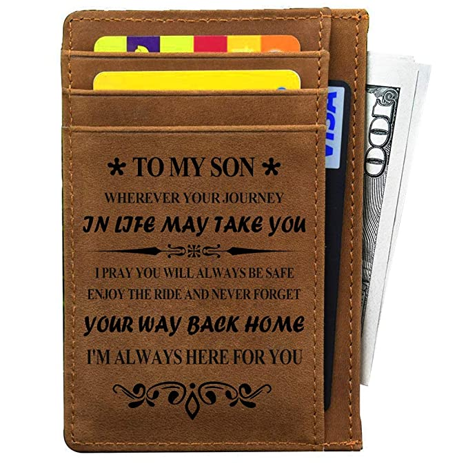 Christmas Gifts For Mom From Son.My Son Gifts From Mom And Dad For Birthday Graduation Fathers Day Christmas Gift Ideas Engraved Leather Card Holder For Son