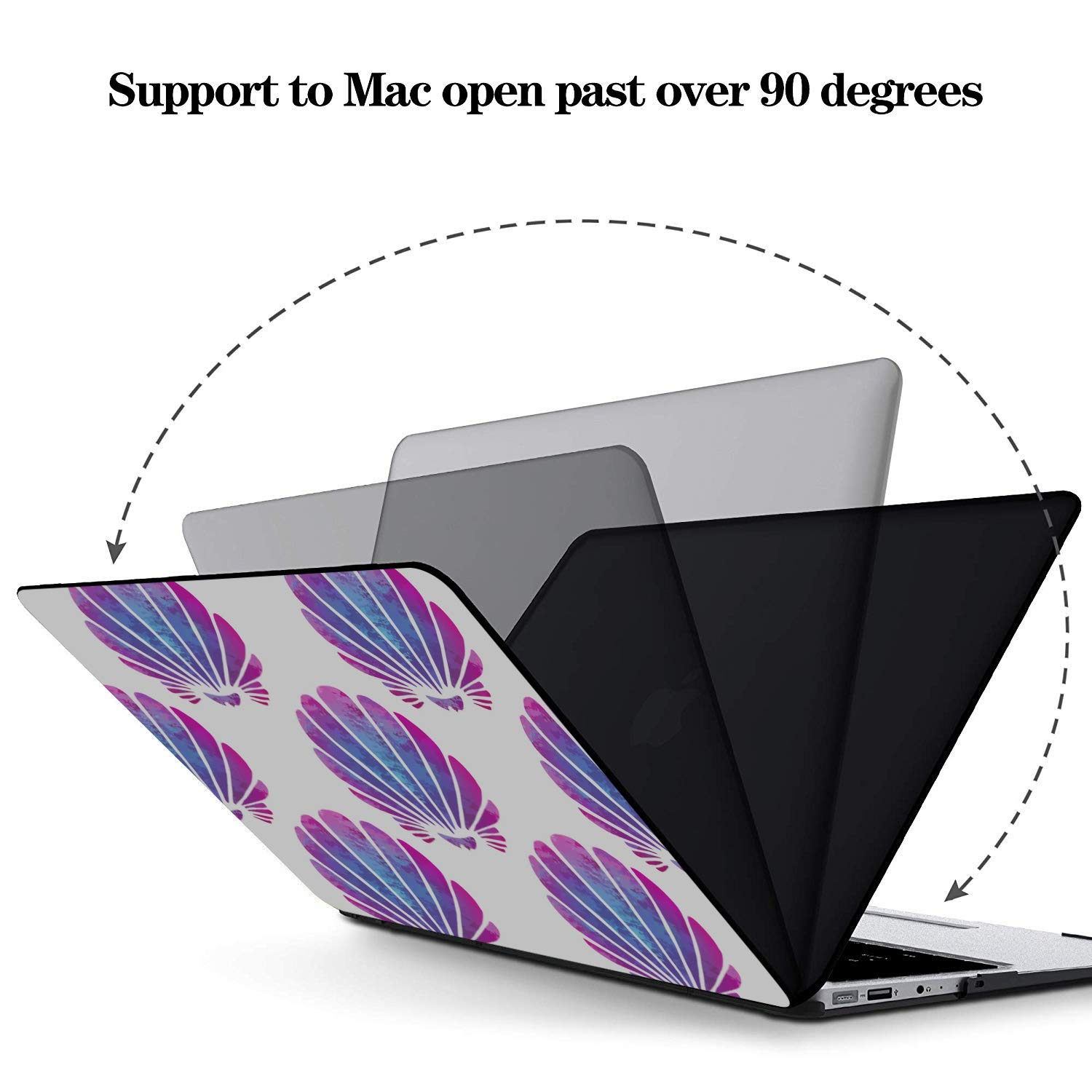 MacBook 2017 Case Summer Seaside Seashells Starfish Plastic Hard Shell Compatible Mac Air 11 Pro 13 15 MacBook Air 13 Accessories Protection for MacBook 2016-2019 Version
