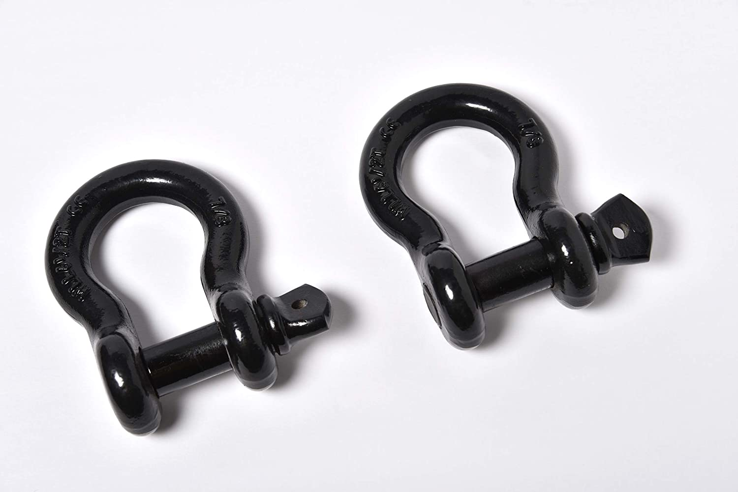 Galvanized//Blue 2 Pack Bow Shackle 7//8 inch ALFA Wheels D-Ring Rugged WLL Working Load Limit 6.5 Tons 18700 lbs-1 Screw Threaded Pin Heavy Duty Lifting Rigging Tow Hummer Recovery Anchor