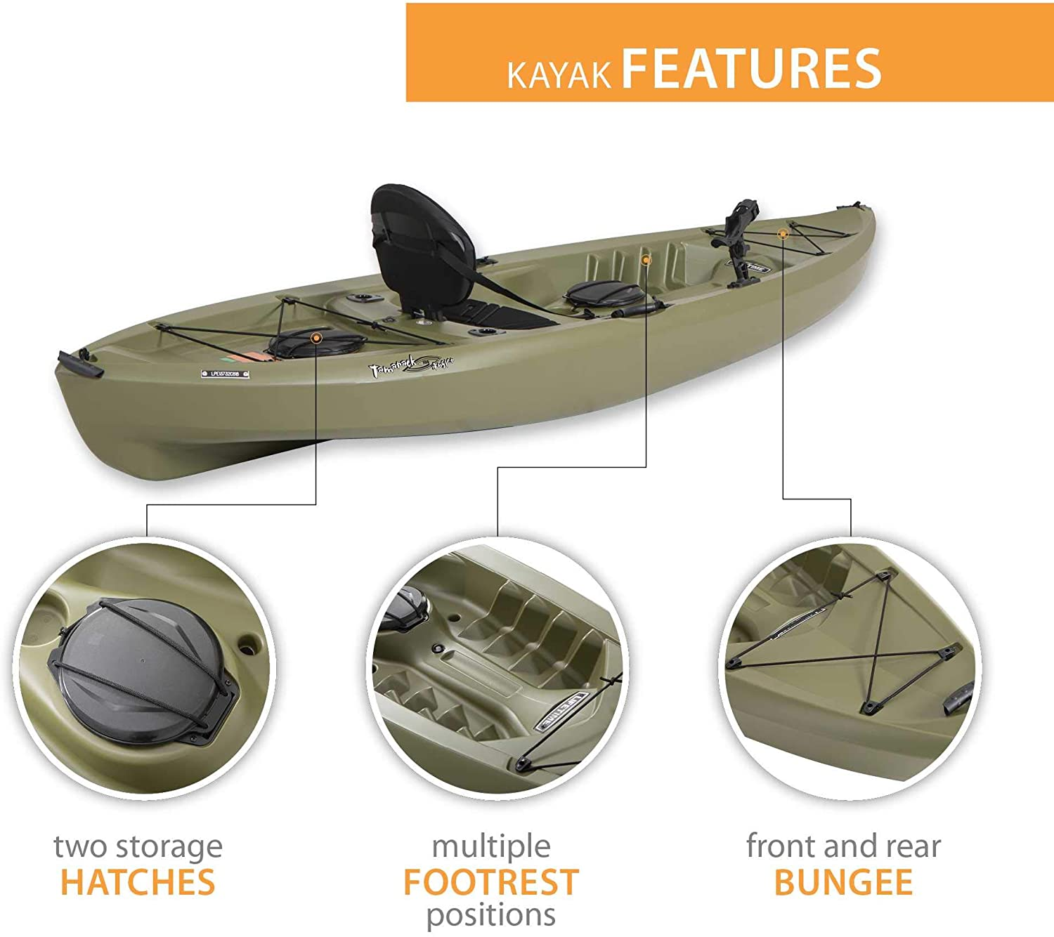 Lifetime Tamarack Angler Sit-On-Top Kayak 4