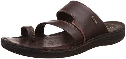 18dc79733592e6 Image Unavailable. Image not available for. Colour  Scholl Men s Sam Toe  Ring Brown Leather Hawaii Thong Sandals ...