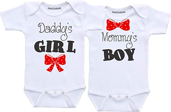 Daiichiban Designs Double Trouble Twin Outfits for Baby Boys Twins Baby Clothes