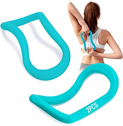 2pc Soft Yoga Ring Mobility Pilates Stretch Support Circle Fitness Resistance
